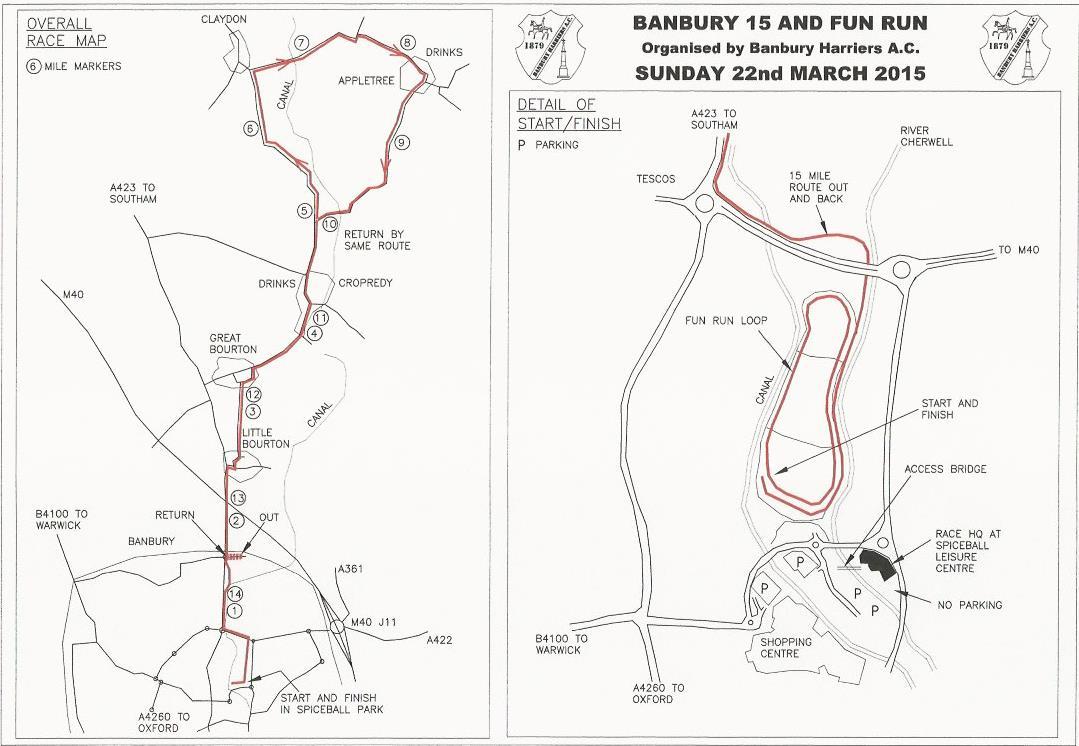 Banbury England Map.Banbury Run